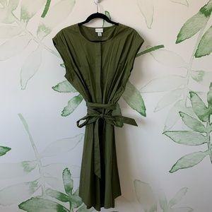 Cute Long Green Tie Dress